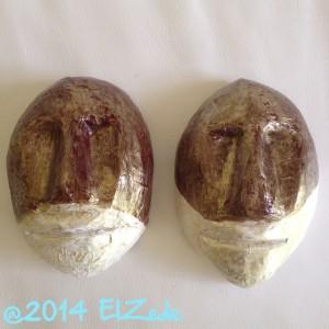 Deux masques mi-bruns (état final)